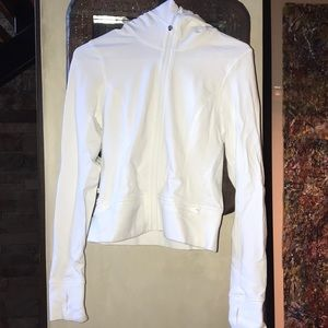 Lululemon White Zip Up Sweatshirt